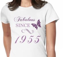 1955 Fabulous Birthday Womens Fitted T-Shirt