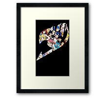 Fairy Tail Logo WITH COLOR!!! :D Framed Print