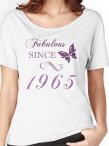 1965 Fabulous Birthday Women's Relaxed Fit T-Shirt