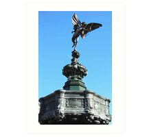 Statue of Eros, Picadilly, London Art Print