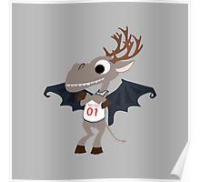 Funny Little Jersey Devil Poster