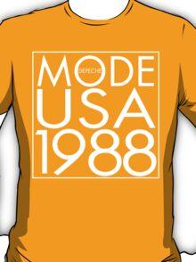 Depeche Mode : USA 1988 - 3 - White T-Shirt
