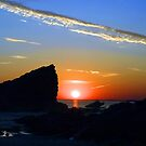 SUNDOWN AT BROADHAVEN WALES by kfbphoto