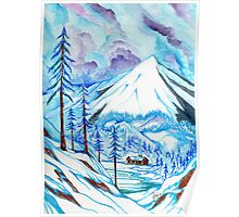 Lost Lake at Mount Hood in Winter Poster