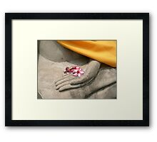 buddhist offering, thailand Framed Print