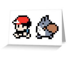 Totoro Pokemon Sprite V2! Greeting Card