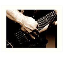 Gritty Guitar Art Print