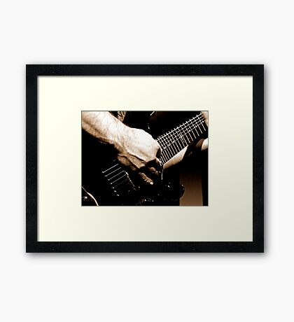 Gritty Guitar Framed Print