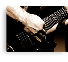 Gritty Guitar Canvas Print