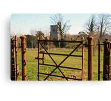 the rustic gate Canvas Print
