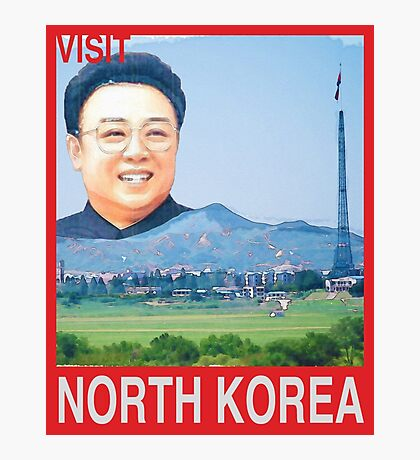 Visit NORTH KOREA Travel Poster Photographic Print