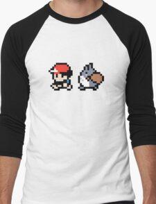 Totoro Pokemon Sprite V2! Men's Baseball ¾ T-Shirt