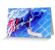 CHILD DIVING Greeting Card
