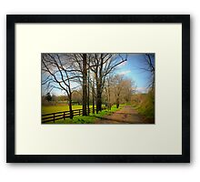 Trapp Branch Road in Spring Framed Print