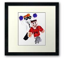 Drunk Minecraft - Bob and Wade Framed Print