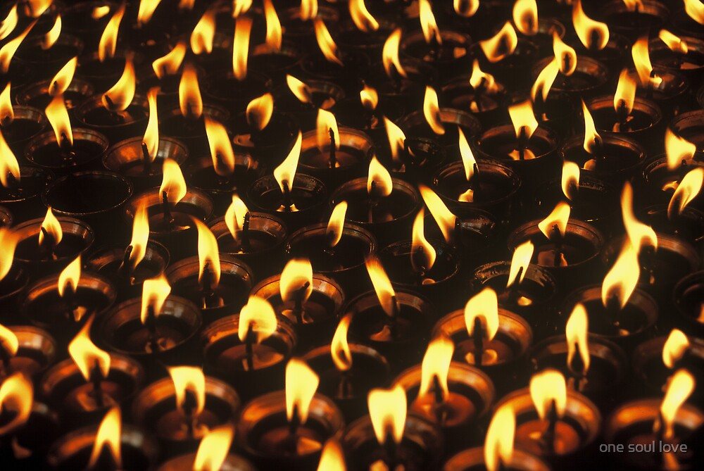 Candle Offering, Tibet by chrisdade