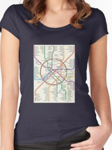 MOSCOW METRO Women's Fitted Scoop T-Shirt