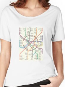 MOSCOW METRO Women's Relaxed Fit T-Shirt