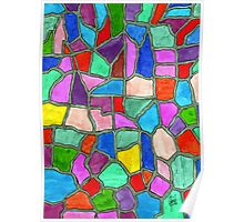 A Stained Glass Mosaic of Thought Poster
