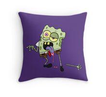zombie spongebob Throw Pillow