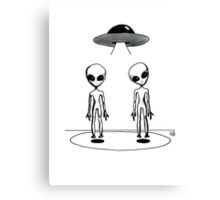 Visiting Aliens Canvas Print
