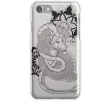 Dragon with Mandala Original Drawing iPhone Case/Skin