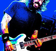 Dave Grohl - Black Rocking Out Colour by rikovski
