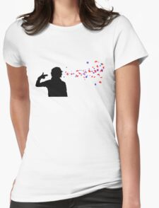 Blow your hearts out Womens Fitted T-Shirt