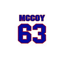 National football player Mike McCoy jersey 63 Photographic Print