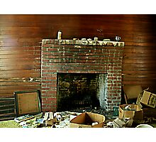 That Ol Fireplace Photographic Print