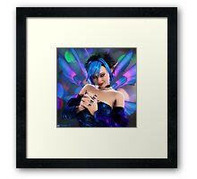 Blue Mischief Framed Print