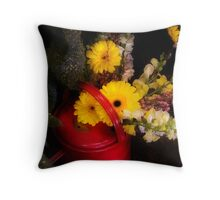 Watering Can Still life  Throw Pillow