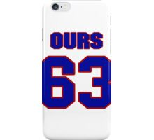 National football player Greg Ours jersey 63 iPhone Case/Skin