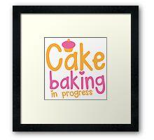 Cake baking in progress Framed Print