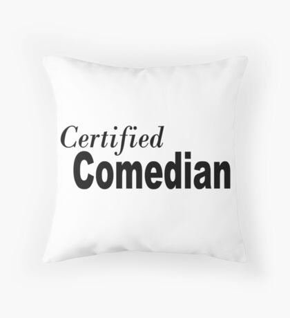 Comedian Throw Pillow