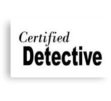 Detective Canvas Print