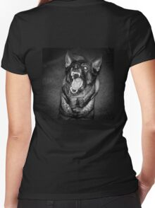 Protector Women's Fitted V-Neck T-Shirt