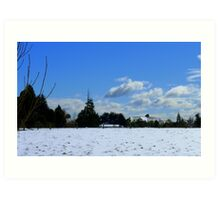 Spring snow Rural NZ - Near Gore - Southland  Art Print
