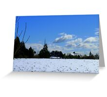 Spring snow Rural NZ - Near Gore - Southland  Greeting Card