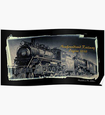 Newfoundland Railway Engine 1010 Poster