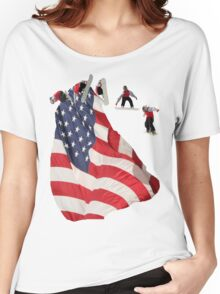All American Snowboarder Women's Relaxed Fit T-Shirt