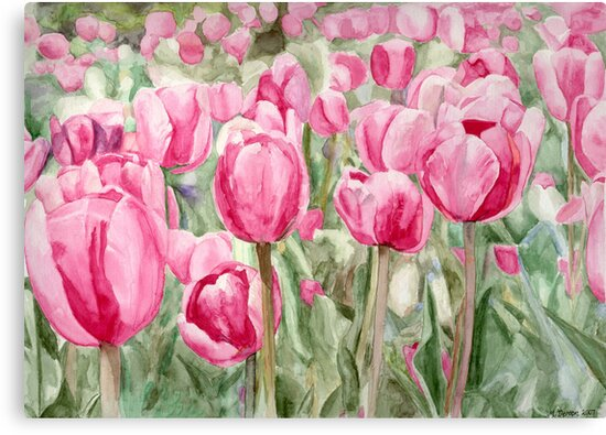 Tulips by Melanie Deroon