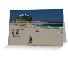 Newcastle Series - Nobbys Beach Greeting Card