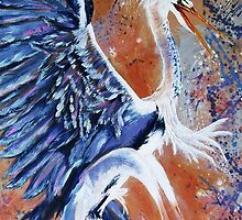 Hungarian Heron by Ciska
