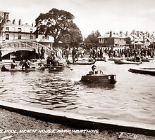 Beach House Park, Boating Lake, Worthing. by CentenaryImages