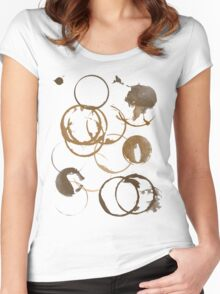 Coffee cup stains Women's Fitted Scoop T-Shirt
