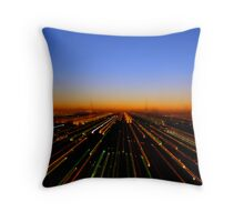 Lightspeed City Throw Pillow