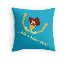 Maurice Moss - I AM a giddy goat (I.T. Crowd Design) Throw Pillow