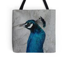 Painted on a wall! - Peacock - Gore - NZ Tote Bag