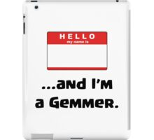 Clash of Clans - Hello My Name is and I'm a Gemmer iPad Case/Skin